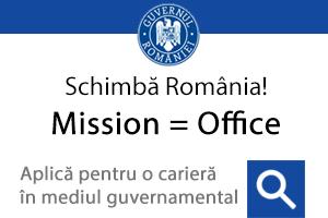 Mission = Office / Schimbă România - aplică pentru o carieră în mediul guvernamental